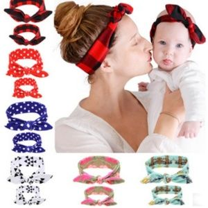 Other - 2PCS/Set Mother & Daughter Kids Baby Girl Bow